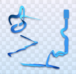 MK8 Big Blue Course Map