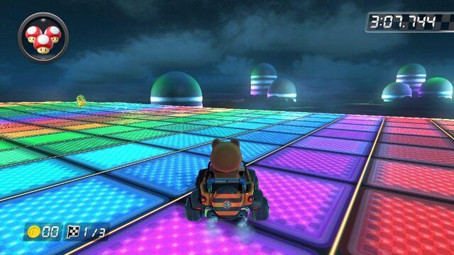 File:SNES Rainbow Road (Mario Kart 8) 3.jpg