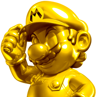 Gold Mario's cool pose.