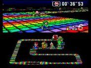 SMK SNES Rainbow Road 2