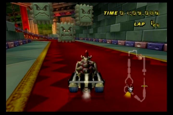 Mario Kart 64 - Time Trials - Bowser's Castle 2'17