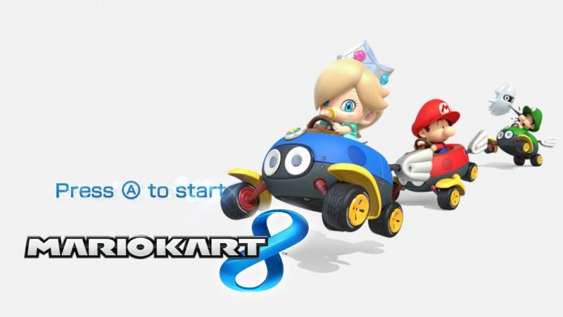Baby Mario Mario Kart 8: Mario Kart 8 Title Screen (Baby Mario, Baby Luigi