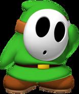 Green Shy Guy - Mario Kart X