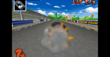 Bullet Bill item in Mario Kart Ds