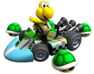 Koopa Troopa with Triple Green Shells (Mario Kart Wii)