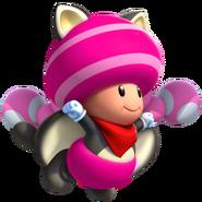 Flying Squirrel Toadette - Mario Kart X