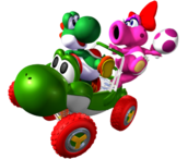 Yoshi y Birdo (mkdd)
