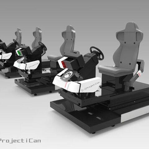 <i>Mario Kart Arcade GP VR </i>row of cabinets.