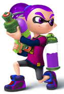 Purple Inkling Boy - Mario Kart X