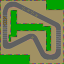 SNES Mario Circuit 1 map