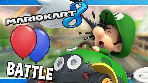 Battle Mode Free-for-All Mario Kart 8