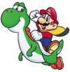 100px-Mario and Yoshi SMW