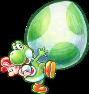 180px-Yoshi and Baby Mario Artwork - Yoshi's New Island