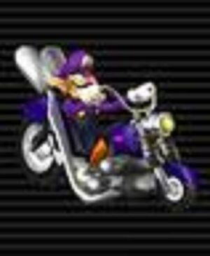 Waluigi on Wario Bike