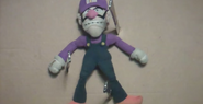 Waluigi with knives