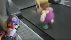 Wario on the Treadmill