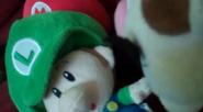 Wario stares Baby Luigi