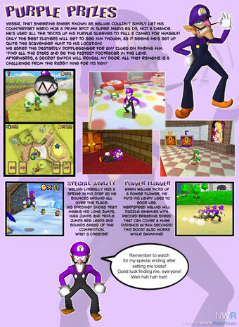 Waluigi In Super Mario 64 Ds Mario Mysteries Wiki Fandom