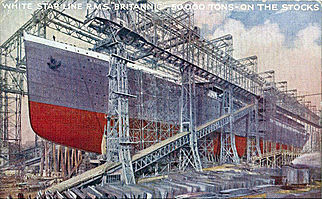 322px-Britannic launching postcard