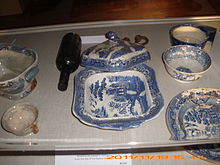 -Willow pattern- dinner service recovered from the Tayleur