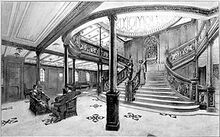 282px-Drawing of the Grand Staircase onboard the RMS Titanic from the 1912 promotional booklet