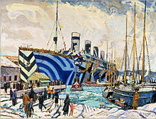 220px-Arthur Lismer - Olympic with Returned Soldiers