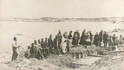 File:Burial service of victims of wreck of SS Atlantic, at Lower Prospect, Halifax County, Nova Scotia, Canada, April 1873.jpg