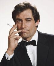 Smoking Damien as Bond