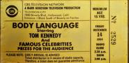 Body Language (December 14, 1984)