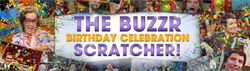 The Buzzr Birthday Celebration Scratcher