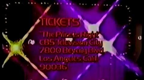 The Price is Right ticket plug, 1975