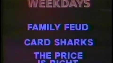 WJSU Family Feud Card Sharks The Price is Right promo, 1988