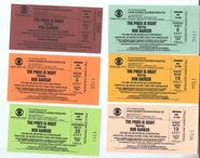 Assorted tickets (2000-2007)