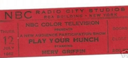 Play Your Hunch (July 12, 1962)