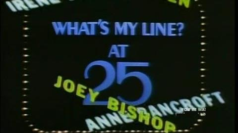 What's My Line at 25 Special - Original Broadcast Version W COMMERCIALS