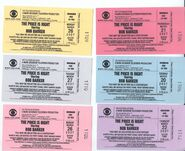 Assorted tickets (2007)