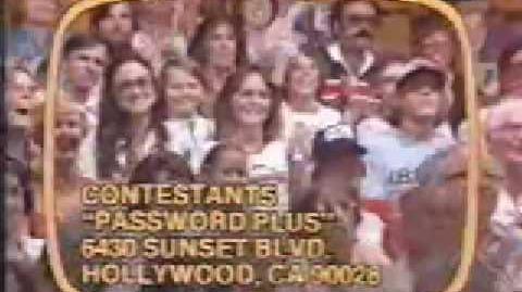 Password Plus Contestant Plug