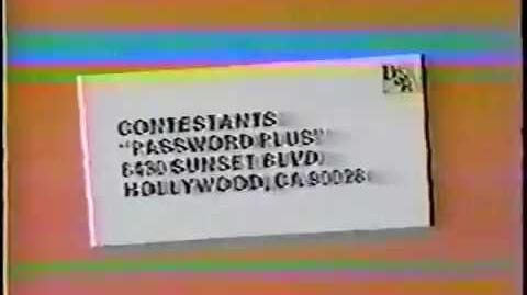 Password Plus contestant plug, 1979