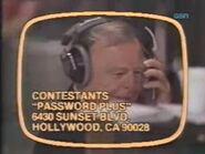 Password Plus Contestant Plug Gene Wood