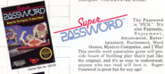 Super Password NES Article