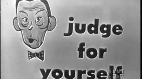 Judge For Yourself w FRED ALLEN - Final show - Intro by Frank Gorshin (May 11, 1954)