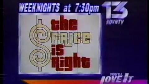 KOVR Nighttime Price is Right promo, 1986