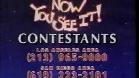 Now You See It contestant plug, 1989