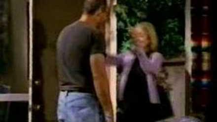 """Ed O'Neill visits Christina on the set of """"Jesse"""""""