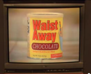Waist-Away Chocolate flavor in TV commercial