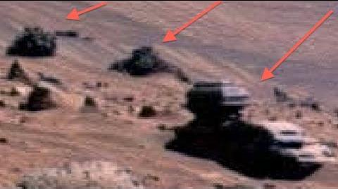 Mars OUTPOST or ALIEN VEHICLE Caught By Spirit Rover 2013. NASA pic