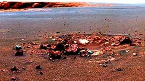 Mars Rover Opportunity Shocking photo- odd formations