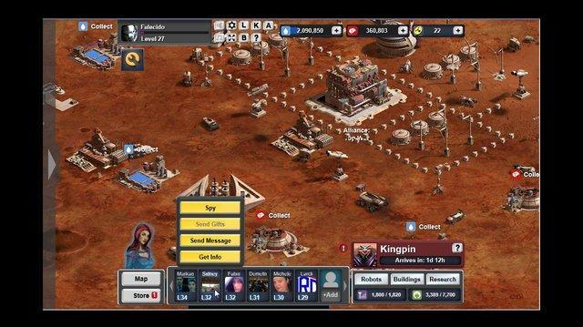 Ganhando Bonus Mars Frontier