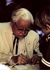 Colonel Harland Sanders in character