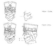 Martin Mystery - Pilot Episode - Concept Art (Character Design) by Nicolas Vergnaud - Pharaoh Mummy's Face